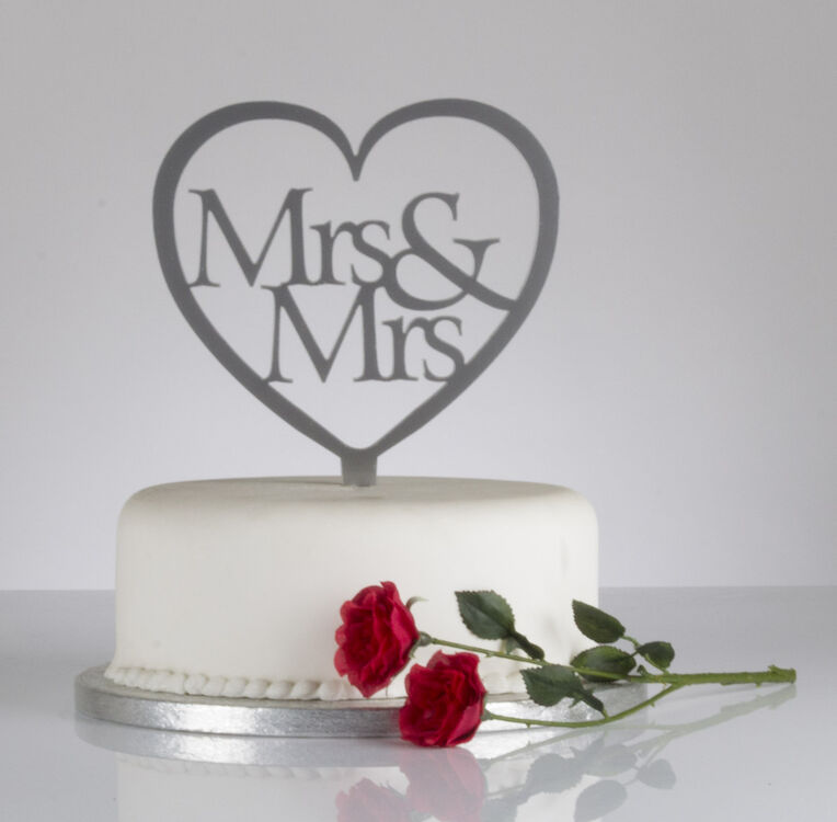 Love Heart Wedding Cake Toppers
